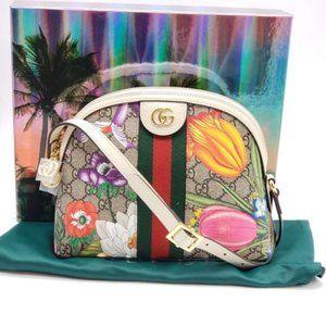 Gucci GG Ophidia Flora Shoulder Bag Brand New
